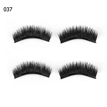9df47e63ef1 Amazon.com : 1 Set 0.07 Triple Magnetic False Eyelashes Extension Tools  Full Coverage Glue-Free Magnets Eye Lashes Thick Long Makeup Tools 037 :  Beauty