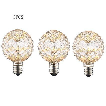 JL-Q Edison Retro Bombilla LED 3W E27 Espiral Estrellado filamento Decorativo Bombilla 140mm,