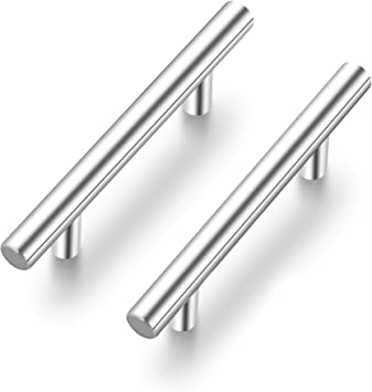 Ravinte 1 Pack 5 Cabinet Pulls Brushed Nickel Stainless Steel Kitchen Drawer Pulls Cabinet Handles 3 Hole Center Amazon Com