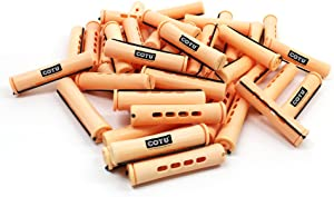 24 pc of COTU (R) Hair Perm Rods Jumbo Size - Sandy Color