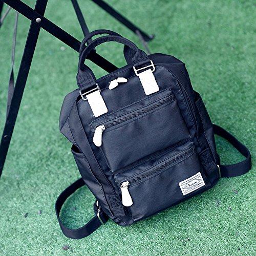 Mochila de Nylon repelente al agua las alumnas de pequeñas mochilas escolares mini mochila gules black