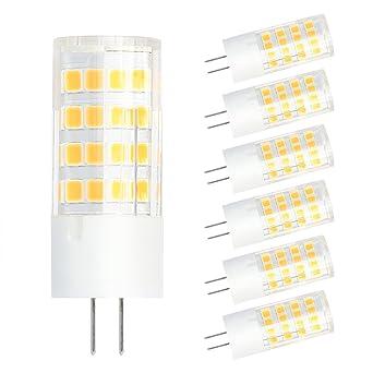 SHINE HAI Bombillas LED G4 12V AC/DC 4W, Equivalente a una Lámpara Halógena