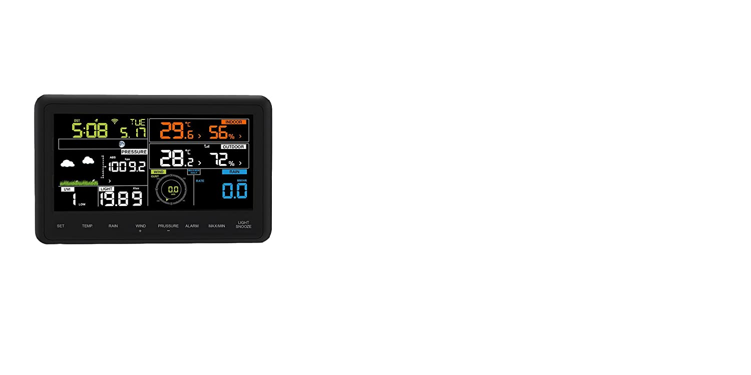 Profi radio weather station Froggit WH3000 SE (2018) - WiFi Internet weather station color display, Wunderground 3500