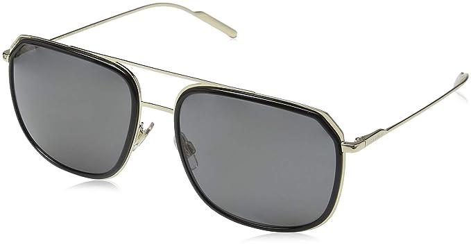 Dolce & Gabbana 0Dg2165 Gafas de sol, Black/Pale Gold, 58 ...