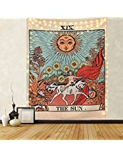KHOYIME Tarot Tapestry Sun Tapestry Wall Hanging Mysterious Medieval Europe Divination Tapestries for Room