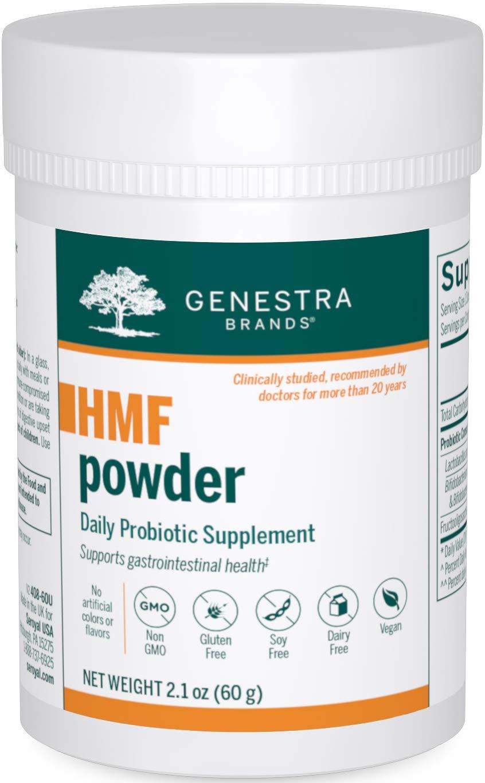 Genestra Brands - HMF Powder - Four Strains of Probiotics to Promote GI Health - 2.1 Ounces