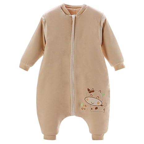 Jiyaru Saco de Dormir de Mangas Largas Rayas Bolsa de Dormir Mono para Bebés Niños Niñas
