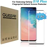 Galaxy S10 Plus / S10+ (6.4in) Screen Protector, [9H Hardness][Anti-Fingerprint][Ultra-Clear][Bubble Free] Tempered Glass Screen Protector Compatible with Samsung Galaxy S10 Plus/ S10+