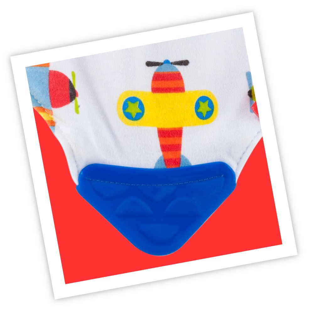 N/ûby 2 pk Teething Bib Colors//Theme may vary Dribble Catcher with Teething Corner