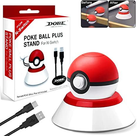 Soporte cargador para controlador Pokeball Plus, soporte de carga con cable de carga USB compatible con