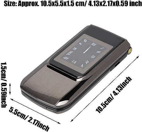 Pomya Teléfono móvil Teclado de Pantalla Dual HD de 2,6 Pulgadas ...