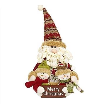TOYVIAN Adornos navideños de muñecas de Santa, Juguetes de Peluche para la decoración del hogar