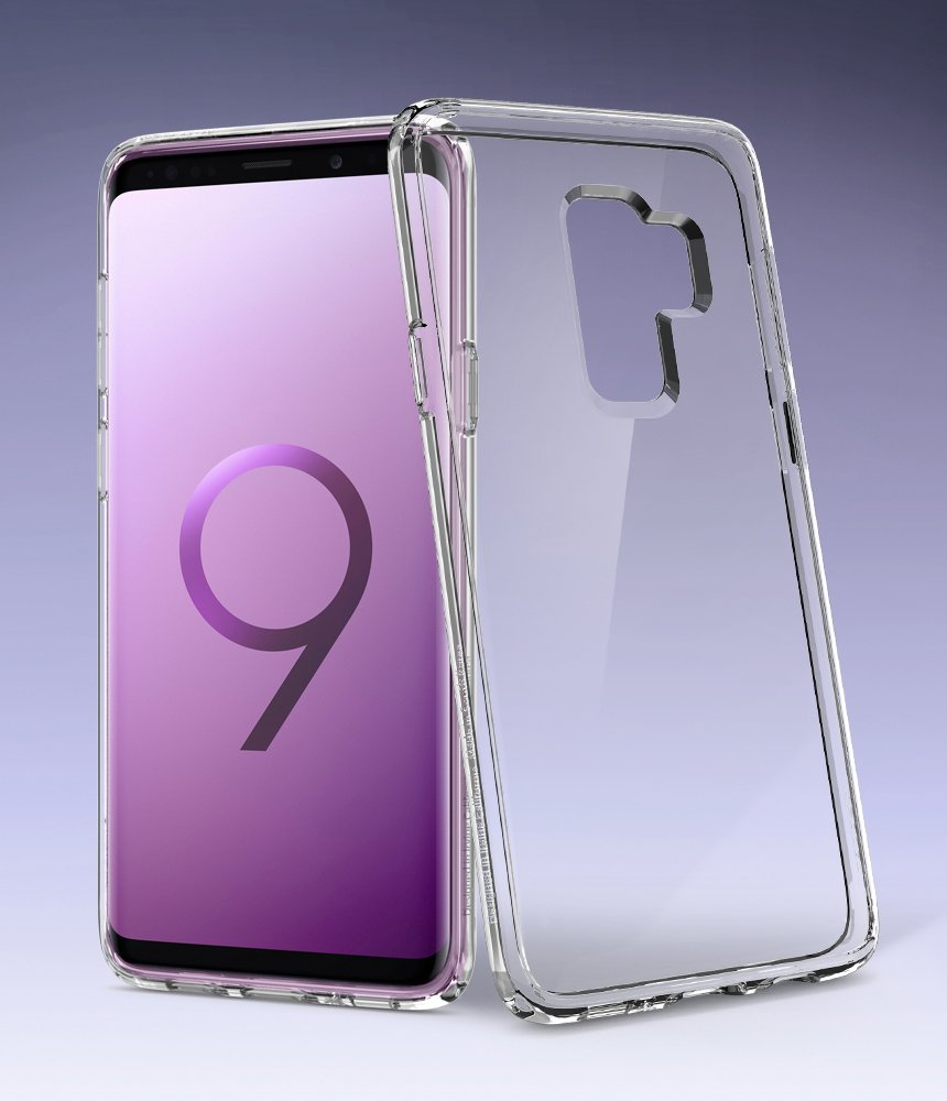Spigen Ultra Hybrid Galaxy S9 Plus Case with Air Cushion Technology and Clear Hybrid Drop Protection for Samsung Galaxy S9 Plus (2018) - Crystal Clear by Spigen (Image #2)