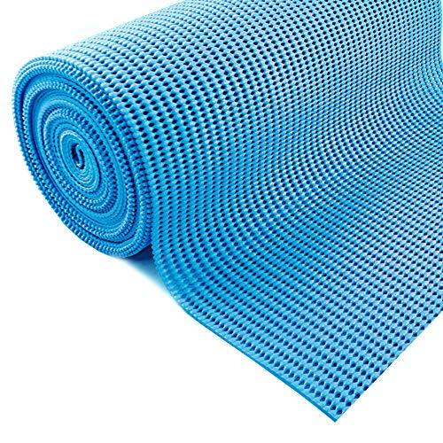 Grip Liner Non-Adhesive Shelf Liner, Anti-Slip Mat Drawer Liner 12 in. x 20 ft. (Blue)