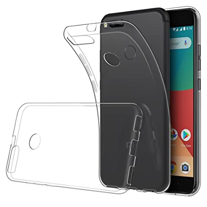 Simpeak Funda Compatible Xiaomi Mi A1 (5,5 Pulgadas), Fundas Transparente Silicona Xiaomi Mi A1 Carcasa Xiaomi A1 / Xiaomi Mi 5X TPU Case