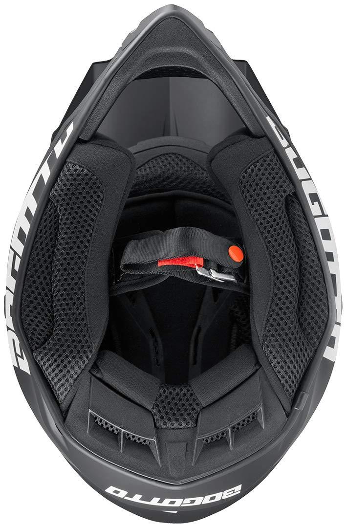 Bogotto V332 Motocross Helm Schwarz Matt L