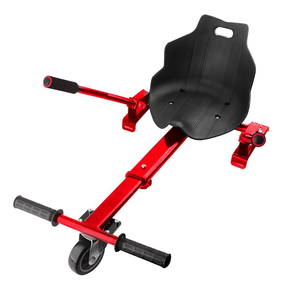 E T Hoverkart Seat Attachment Holder Accessory for 6.5'' 8'' 10'' Self Balancing Scooter Cart Hoverboards (Self Balance Board Not Included)-Red