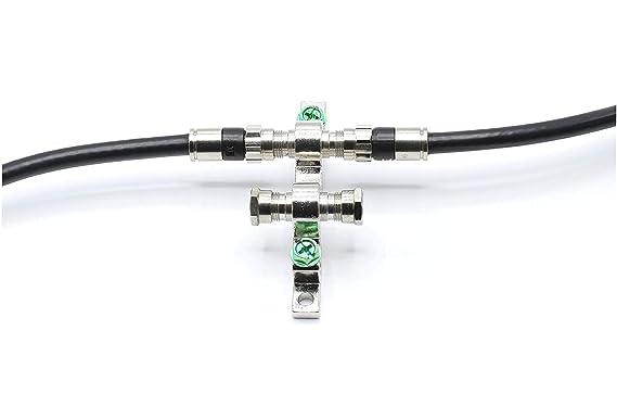 Amazon.com: Cable coaxial RC6 de 20 pies, negro (Coax Cable), Hecho en EE. UU., con conectores de compresión, F81 / RF, CableTV, antena y satélite, ...