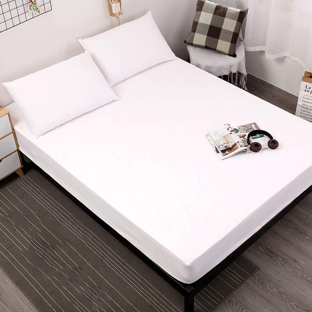 100% Egyptian Cotton 1 Fitted Sheet Only, 400 Thread Count Queen Size Fitted Sheet White, 16'' Deep Pocket, Colorfast Dyes & Shrink Resistant, Soft & Silky Sateen Weave for Home & Hotel by Shunjie.Home