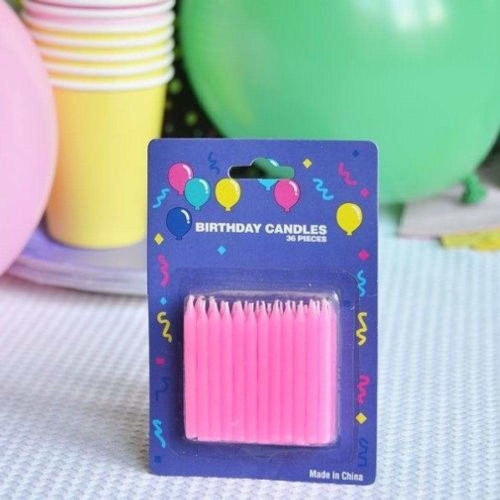 Dorigan home series 2'' Pink Birthday Candles (72 Count) by Dorigan home series