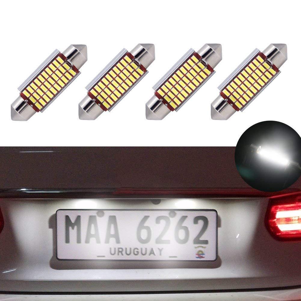 Ampoules de feston de LED 39mm Canbus erreur libre blanc E3175 DE3021 LED lumières intérieures de voiture ampoules 12v 5050 pour miroir de la vanité dôme plaque d'immatriculation lumière jose201606