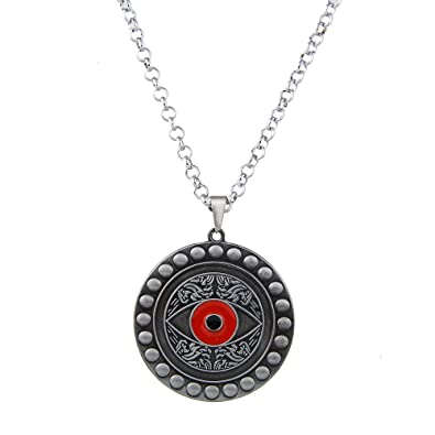 b79c81560 LUREME Vintage Jewelry Doctor Strange Eye of Agamotto Pendant Necklace-Silver  (nl005616-2): Amazon.co.uk: Jewellery