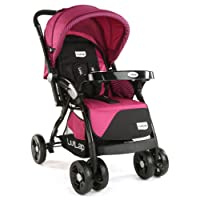 LuvLap Galaxy Baby Stroller and Pram (Pink/Black)