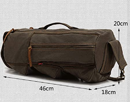 Color : Army Green Xiuzhifuxie Lightweight Travel Backpack Simple Retro Outdoor Waterproof Canvas Chest Bag Shoulder Bag Messenger Bag Mens and Womens Shoulder Bag