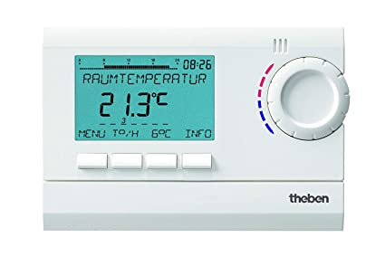 Theben 8120132 Ramses 812 Top2 - Termostato con reloj digital