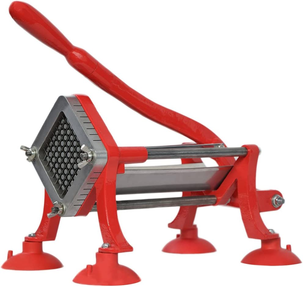 VIVO Commercial Grade Red 1/2 inch French Fry Cutter