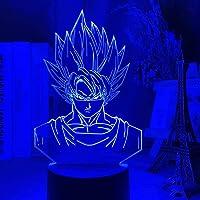 Tatapai 3D Illusion Lamp Led Night Light Dragon Ball Goku Super Saiyan Figure for Kids Room Decor Atmosphere Colorful…