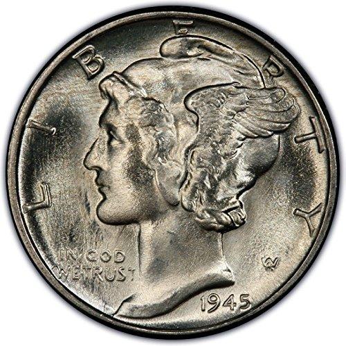 1940 1941 1942 1943 1944 1945 Gem Brilliant Uncirculated Silver Mercury 6-BU Dimes Choice BU