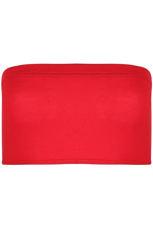 S//M UK 8//10 Rosso BE Jealous donna elasticizzato BOOBTUBE senza spalline a fascia con spalline giubbotto aderente reggiseno top corto IT 8-14
