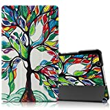 "Infiland Huawei MediaPad M3 8.4 Case, Tri-Fold Ultra Slim Stand Smart Case cover for Huawei MediaPad M3 8.0 Octa Core 8.4"" Android Tablet, Lucky Tree"