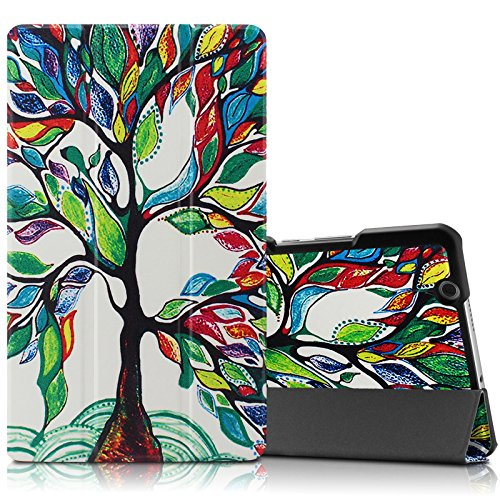 hot sales be4d6 1c5ae Infiland Huawei MediaPad M3 8.4 Case, Tri-Fold Ultra Slim Stand ...