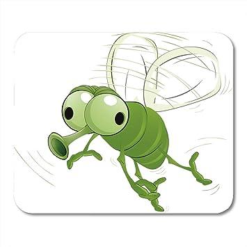 Almohadilla para ratón Volar Insecto verde Mosquito Dibujos ...