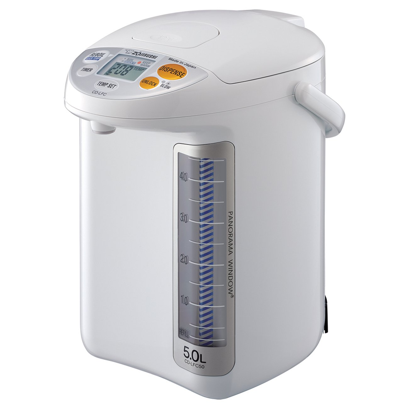 Zojirushi CD-LFC50 Panorama Window Micom Water Boiler and Warmer, 169 oz/5.0 L, White