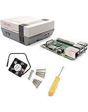 YIKESHU Raspberry Pi 3 Modelo B y NESPI Case y Pequeño Ventilador de CPU sin escobillas