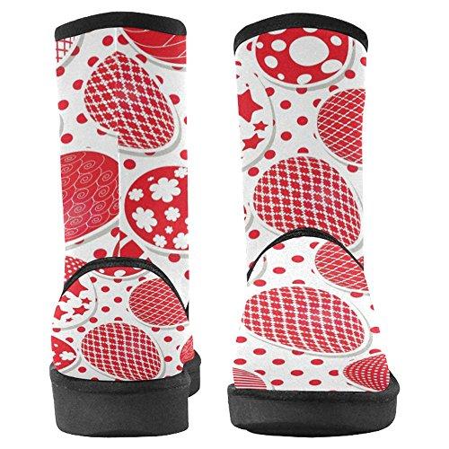 Snow Snow Da Donna Interesse Design Unico Comfort Invernale Stivali Pasqua Uova Multi 1