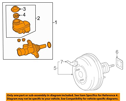 614cU30KiWL._SX425_ amazon com toyota 47201 0r070, brake master cylinder automotive