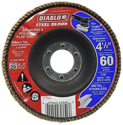 Lit Freud DCX045060N01F 60 Grit Steel Demon Flap Disc without Hub, 4-1/2