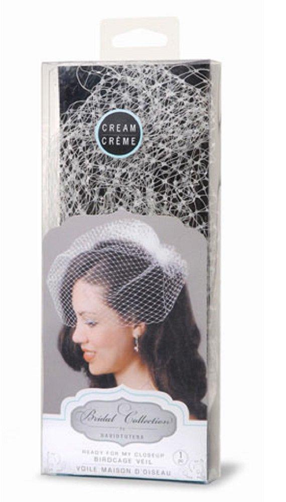 David Tutera Birdcage Veil with Comb - Cream - 18 inches Darice DT320C