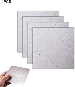 Waveguide Cover, she-love Mica 4PCS Plates Sheets High Temperature Insulation Board for Microwave Oven Repairing Part - Cut to Size 13 x 13cm/ 5.12 x 5.12inch