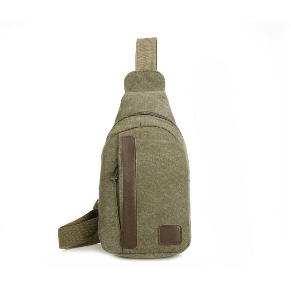 KIOESLKC Men Chest Pack Bag Single Bag Crossbody Bags For Male Sling Shoulder Bag Back Pack D Army Green Small Size