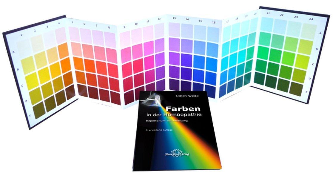 Farben in der Homöopathie: Set: Farbtafeln &Textteil