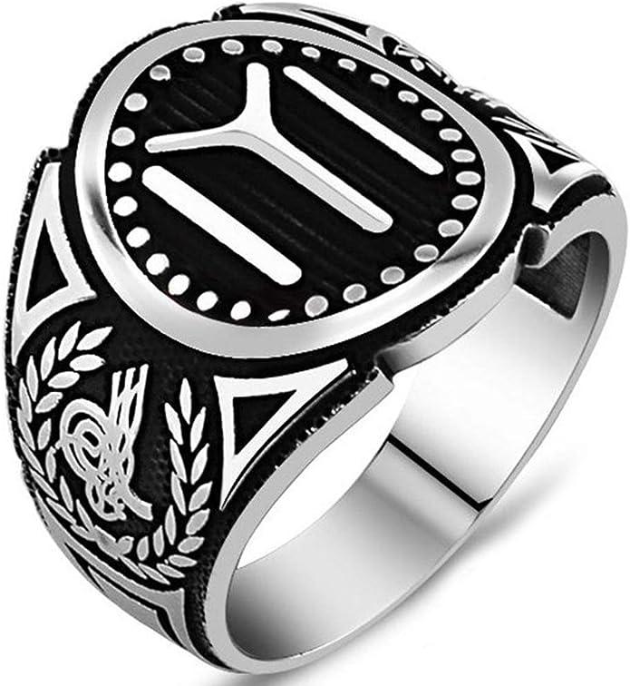 Handmade 925 SILVER Turkish Dirilis Ertugrul IYI tribe ottoman ring men RRP £50