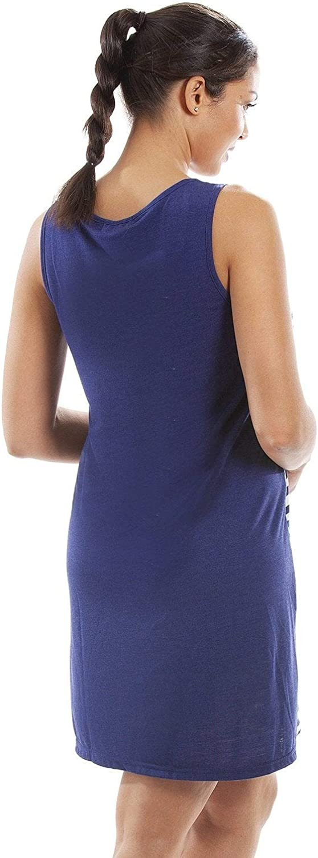 Camille Mujer Damas Rayas sin Mangas Camisola Camisola Fluorescente