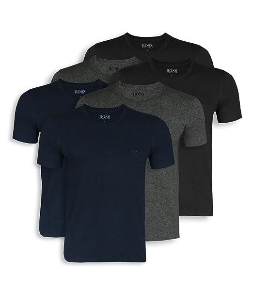 Hugo Boss Boss Camiseta - Liso - para Hombre Blau (Open Blue 497) S