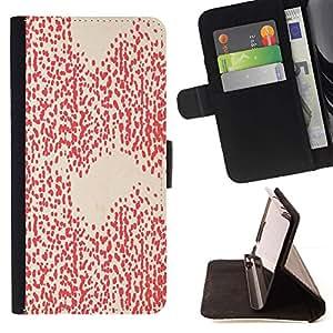 Momo Phone Case / Flip Funda de Cuero Case Cover - Patrón Peach Pink Dots Abstract - LG G4