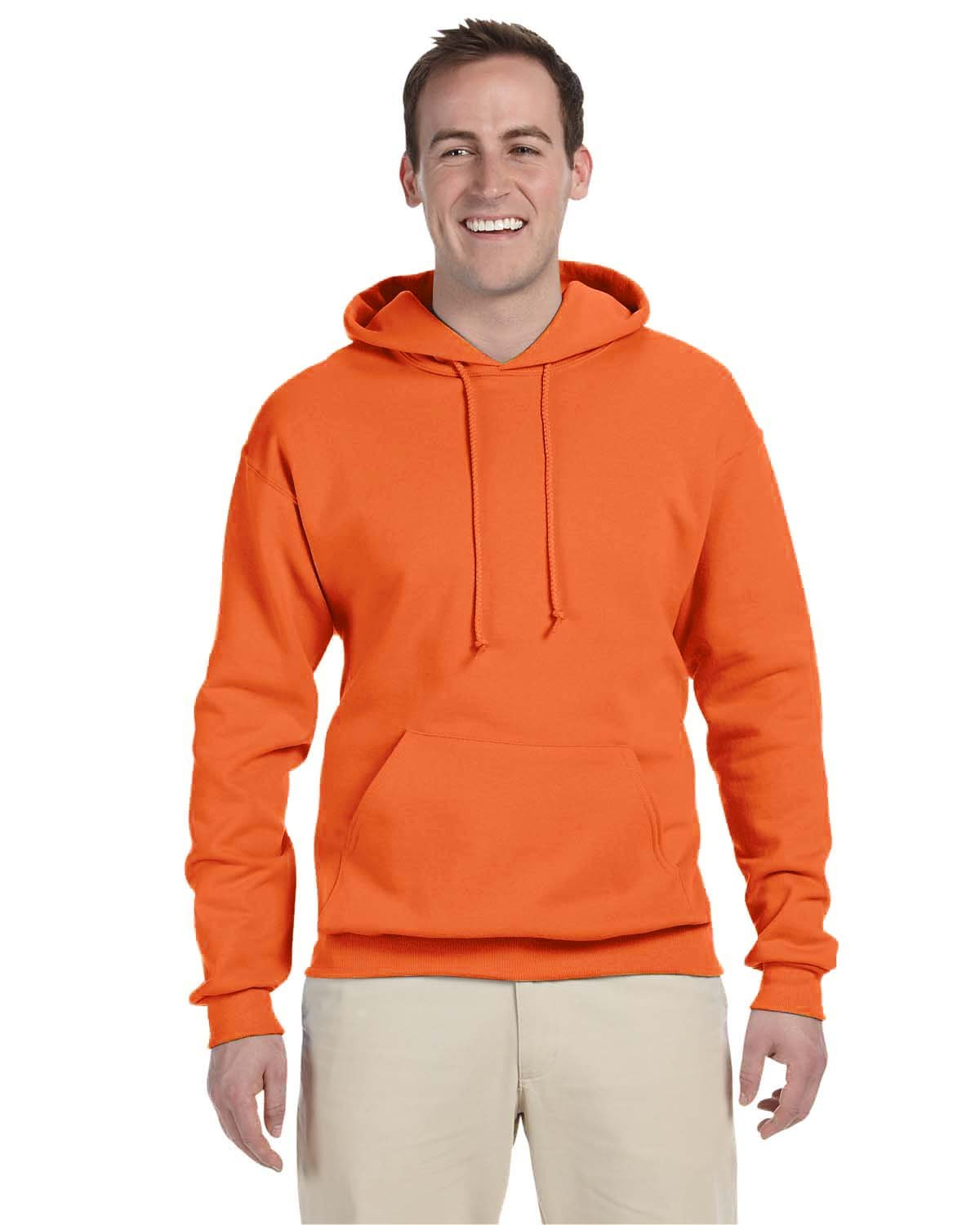 Jerzees 8 oz. NuBlend 50/50 Pullover Hood, Tennessee Orange - Large by Jerzees